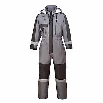 sUw - 屋外作業服機能暖かい冬カバーオールとパック離れてフード
