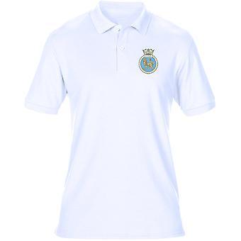 HMS Superb Embroidered Logo - Official Royal Navy Mens Polo Shirt