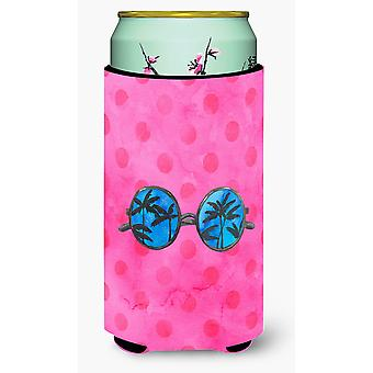 Sunglasses Pink Polkadot Tall Boy Beverage Insulator Hugger