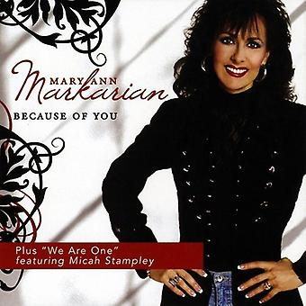 Mary Ann Markarian - importazione USA Because of You [CD]