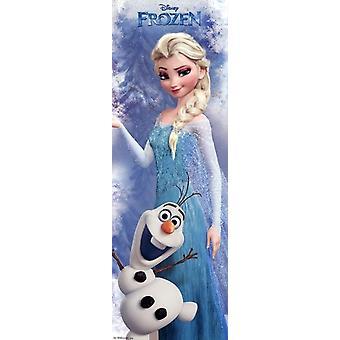 Дисней, замороженные Эльза - дверь Плакат Печать