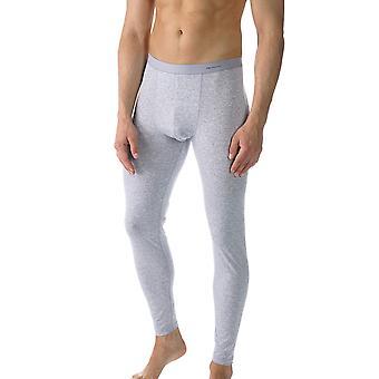 Mey 49042-620 mannen Casual katoen grijs effen kleur enkel lengte Leggings