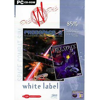 Freespace 1 ja 2 - Valkoinen tarra (PC CD) - Uusi