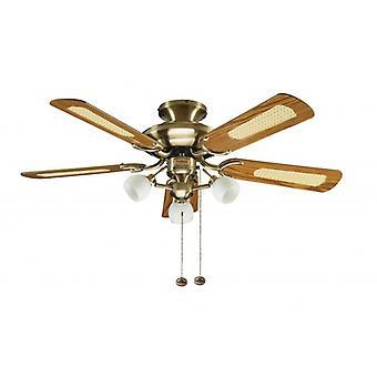 Ventilateur de plafond Mayfair Combi laiton avec lumière 107cm/42