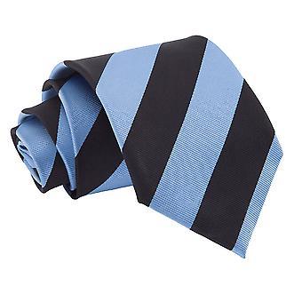 Baby Blue idealna czarny pasiasty krawat Classic