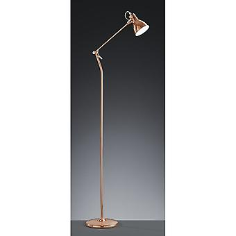 Trio Lighting Jasper Vintage Copper Metal Floor Lamp