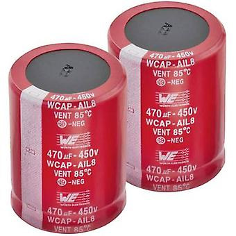 Würth Elektronik WCAP-AI3H 861141485014 Electrolytic capacitor Snap-in 10 mm 120 µF 450 V 20 % (Ø x H) 30 mm x 26 mm 1 pc(s)
