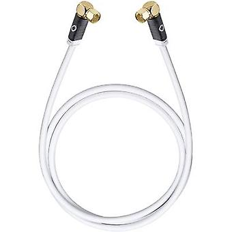 Antennes, SAT kabel [1 x F plug - 1 x F plug] 7.50 m 120 dB vergulde connectoren White Oehlbach transmissie rand S