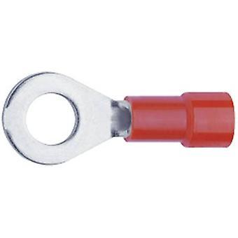 Klauke 6206 Ring terminal tvärsnitt (max.) = 1 mm² hål Ø = 6,5 mm delvis isolerad röd 1 dator