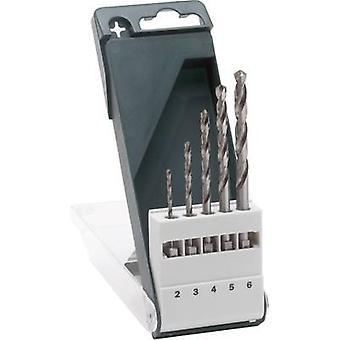 Bosch-Tarvikkeet 2609255127 HSS metalli kierre pora kone 5-osainen 2 mm, 3 mm, 4 mm, 5 mm, 6 mm Cut DIN 338 1/4 (6,3 mm) 1 setti