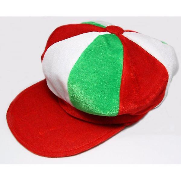 Union Jack Wear Red, White & Green Baker Boy Style Hat