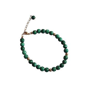 Gemshine - Women -Bracelet - Gold plated - Malachite - Faceted - Green