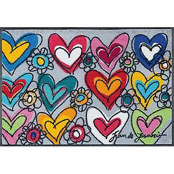 mycie + posadzka mat With Love, wszystkie rzeczy są możliwe 50 x 75 cm przez dream big Zmywalna mata podłogowa