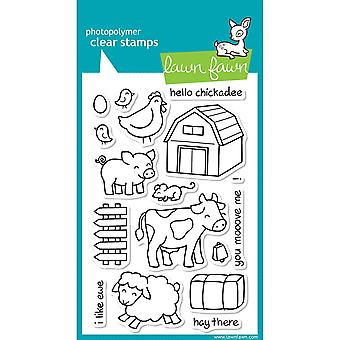 """Lawn Fawn Clear Stamps 4""""X6""""-Critters On The Farm"""