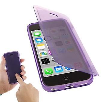 Coquille de mobile flip croix pour mobile iPhone 5 c violet