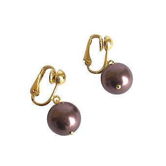 Øreringe perler tahiti Brown DONNIE Pearl øreringe Guld belagte