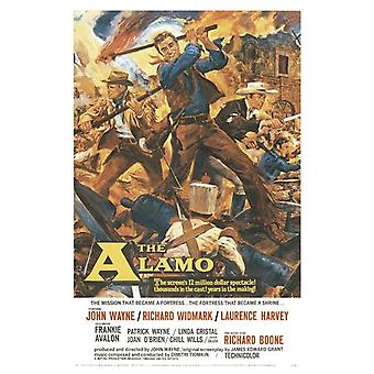 The Alamo Poster  John Wayne, Richard Widmark, Laurence Harvey