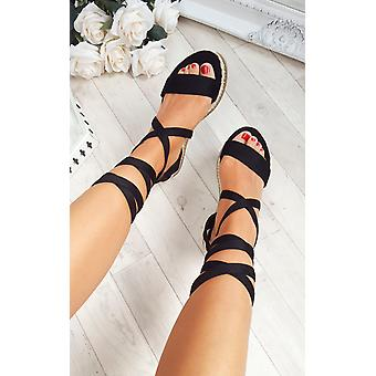 IKRUSH Womens Reeva Strappy Wedge Sandals