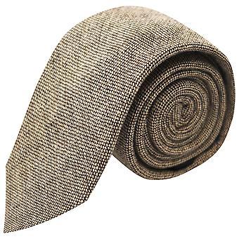 Highland Weave Latte Brown Tie, Necktie