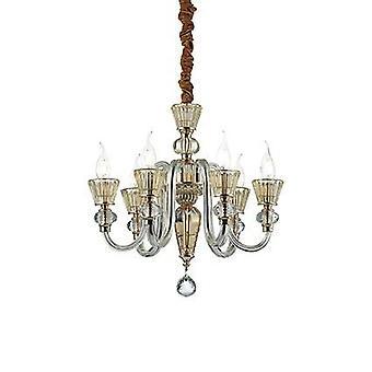 Ideal Lux - Strauss Rose guld Finish och glas sex ljus ljuskrona IDL140605