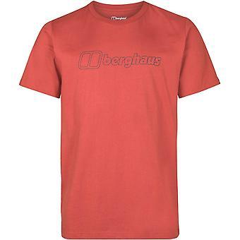 Berghaus Big Outline Logo T-Shirt - Ketchup/Carbon