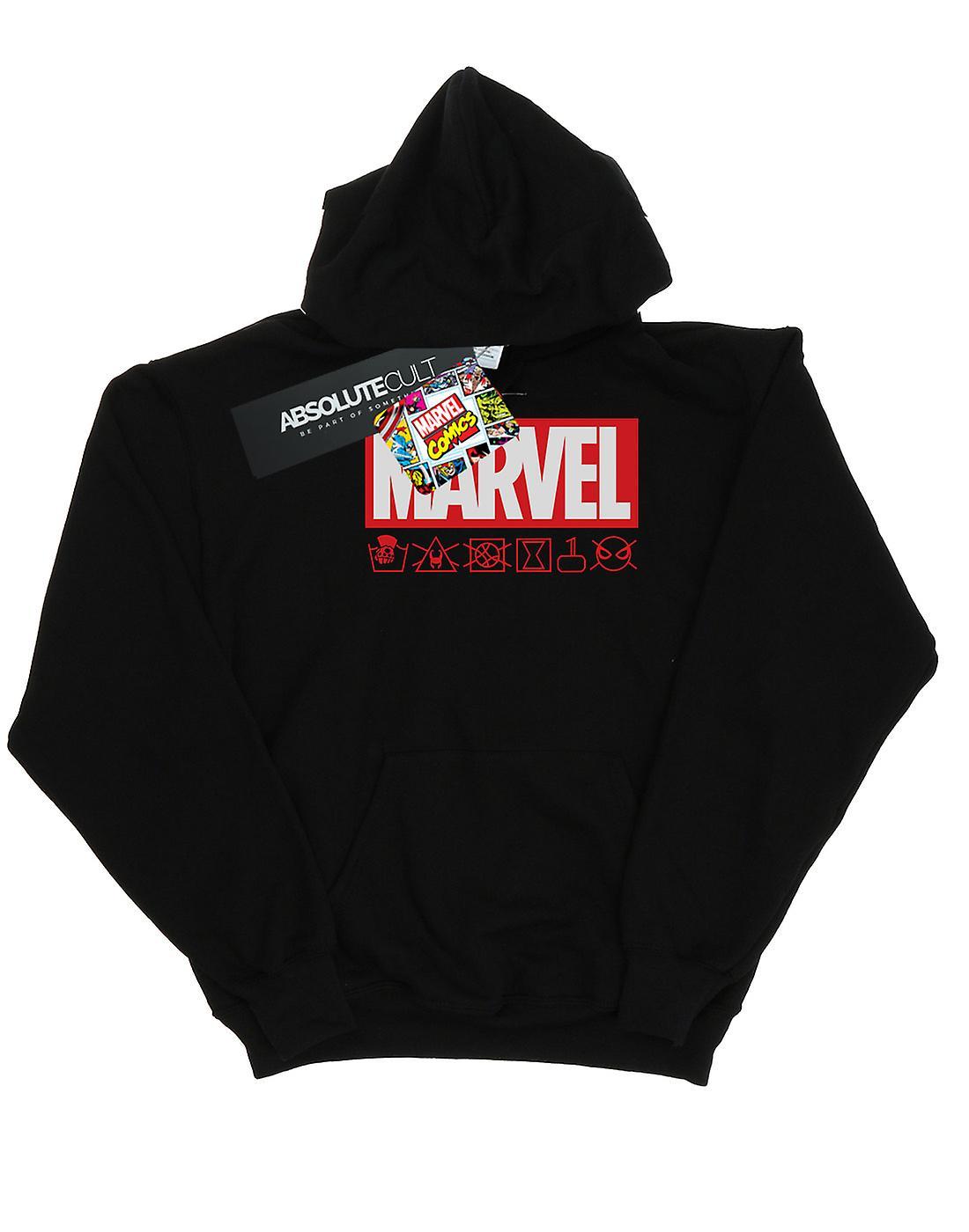 Marvel Women's Logo Wash Care Hoodie