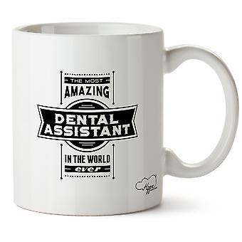 Hippowarehouse самых удивительных ассистент стоматолога напечатаны Кубка керамическая кружка 10oz