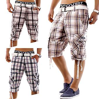 Men Shorts Summer Smile Bermuda Cargo Capris Vintage Casual incl belt