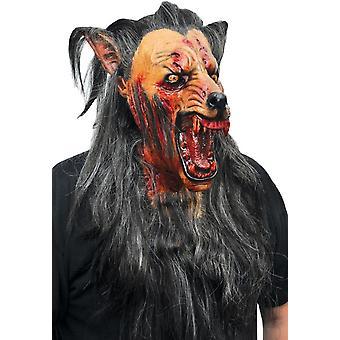 Bruin Wolf Latex masker voor Halloween