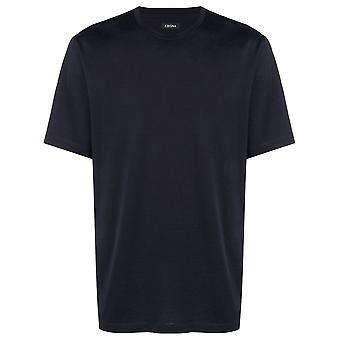 Z Zegna Vs372zz630b09 Men's Blue Cotton T-shirt