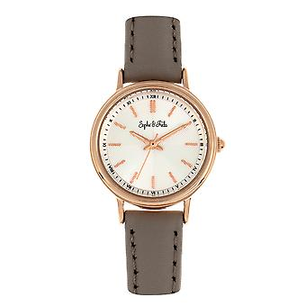 Sophie & Freda Berlin Leather-Band Watch - Grey