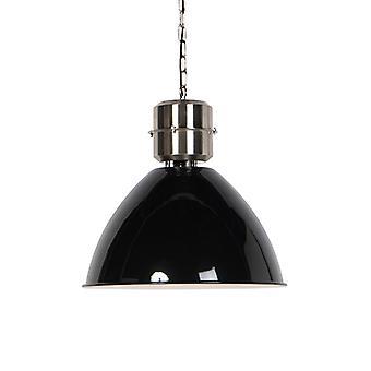 QAZQA Industrial Pendant Lamp Black mit Stahl-Flynn