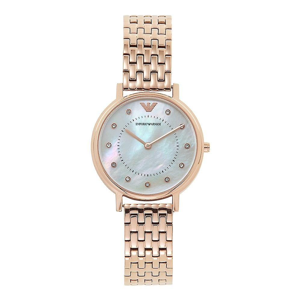 Armani Watches Ar11006 Mother Of Pearl & Rose Gold Stainless Steel Ladies Watch