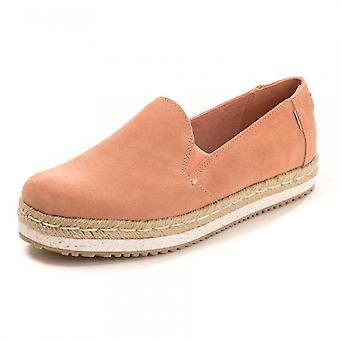 TOMS TOMS Coral Pink Suede Womens Palma Espadrille