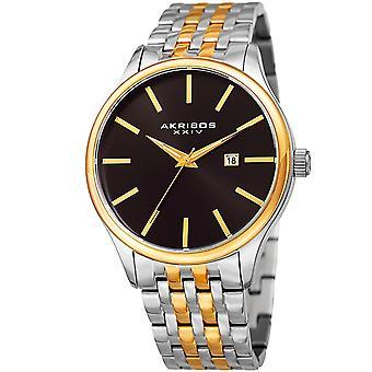 Akribos XXIV Men es AK941 Sunburst Dial Luminous Hands Date Stainless Steel Braclet Watch AK941TTG