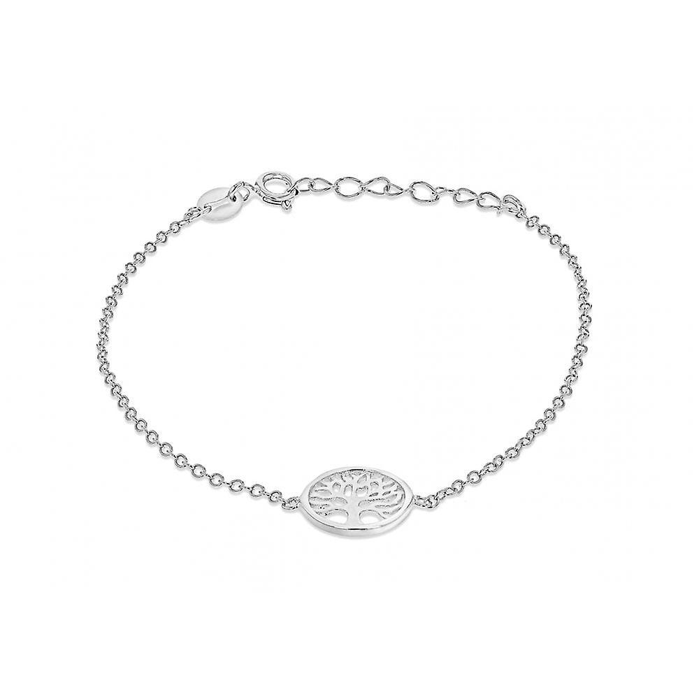 Eternity Sterling Silver Tree Of Life Bracelet