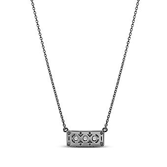 Simon Pagenaud Diamond Pendant Necklace In Sterling Silver Design by BIXLER