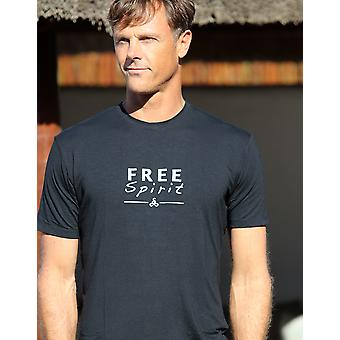 Free Spirit Mens T Shirt - Black