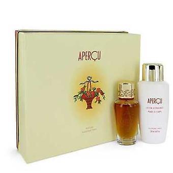 Apercu By Houbigant Gift Set -- 1.7 Oz Eau De Toilette Spray + 6.7 Oz Body Lotion (women) V728-541115