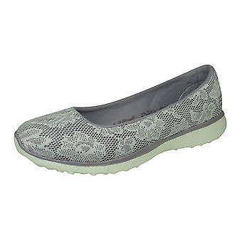 Skechers Microburst Earthy Touch Womens Slip on Shoes / Ballet Pumps - Lavender
