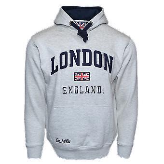 Le129gn unisex london england sudadera con capucha gris marino xs-2xl