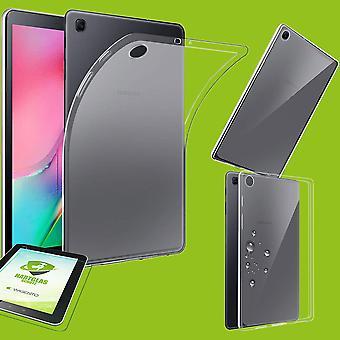 Voor Samsung Galaxy tab A 10,1 2019 T510 T515 transparante Case gevaldekking + H9 hard glas