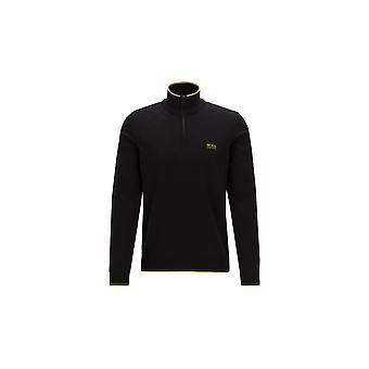BOSS Athleisure Boss Zimex Cotton Half Zip Knitwear Black