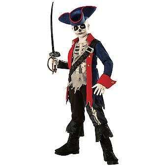 Kapteeni luut Ghostship Ghost Pirate Karibian kirja viikolla lapsi pojat puku