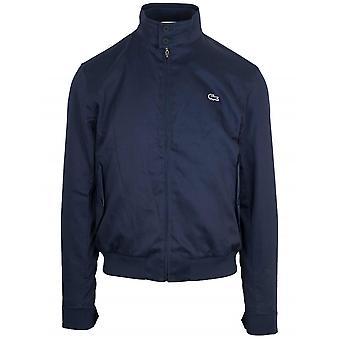 Lacoste laivastonsininen puuvilla Harrington takki