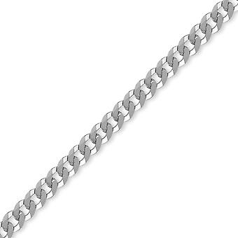 Jewelco Londra Sterling Argento 6mm Gauge Curb Chain