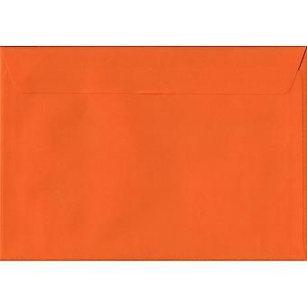 Orange Peel/sceau C6/A6 enveloppes couleur Orange. 100gsm FSC papier durable. 114 mm x 162 mm. enveloppe de Style portefeuille.
