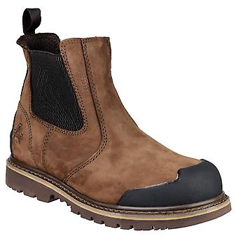 Amblers Veiligheid Mens FS225 Goodyear Welted Waterproof Pull Op Chelsea Safety Boot Brown