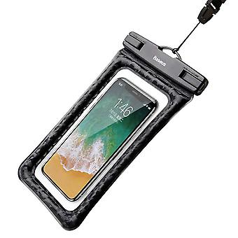 Luxurious waterproof case 6 inch with touchscreen and air cushion protection - Black