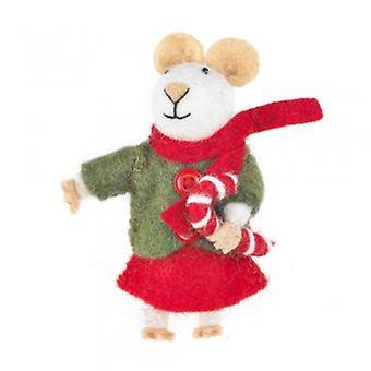 Felt Christmas Mouse Hanging Decoration| Gifts From Handpicked